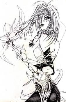 Girl and scythe