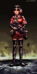 Queen's army style guerrilla trooper by bookpoint