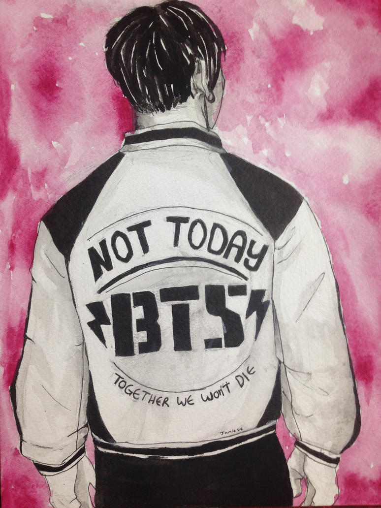 BTS Not Today Fanart by Man-Eating-Giraffes