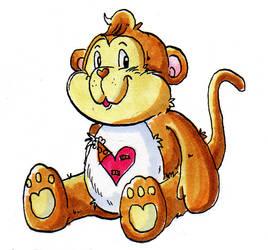 Playful Heart Monkey by xkappax