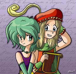 Rydia and Edward - FFIV by xkappax