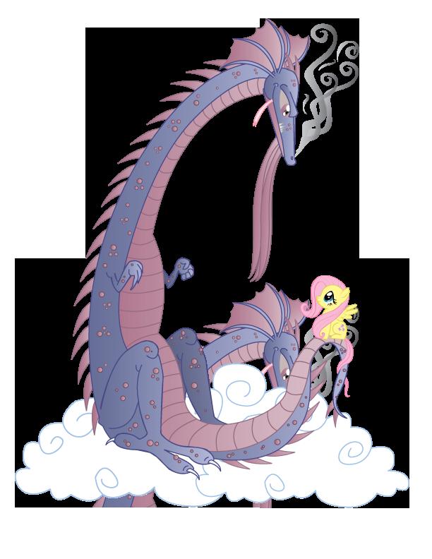 Fluttershy's Dragon by xkappax