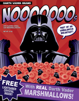 Darth Vader Brand Nooooooo's Cereal Tshirt Design by xkappax