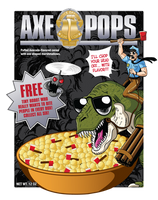 Axe Pops Cereal tee shirt design by xkappax