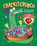 Crackle Crunch Cereal Tee Shirt Design