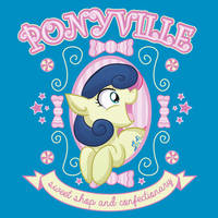 Ponyville Sweet Shop and Confectionary Tee by xkappax