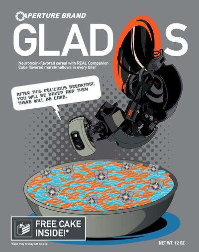 GladOs Cereal Tee Design