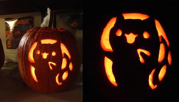 Catbug Pumpkin by xkappax