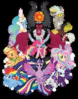 Rainbow Power! Tee Design by xkappax