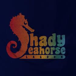 Shady Seahorse Lagoon Tee Shirt design