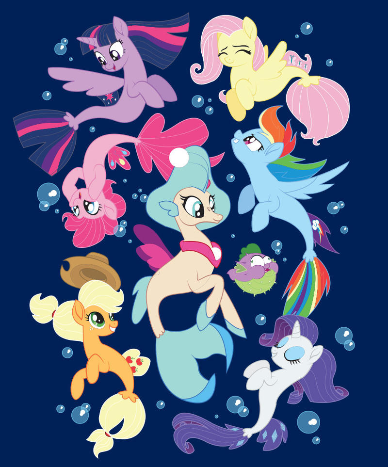 Seaponies Official Tee Shirt by xkappax