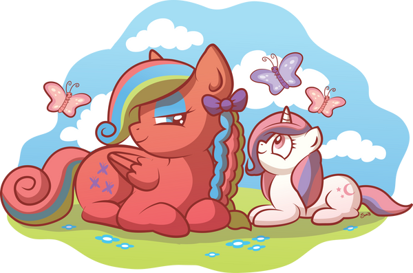Flutterbye and Baby Moondancer by xkappax