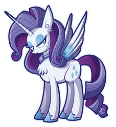 Alicorn Princess Rarity by xkappax