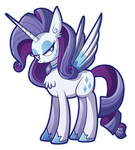 Alicorn Princess Rarity by xkappax