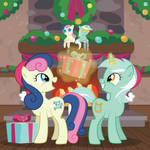 Lyra and Bon Bon - Hearth's Warming Eve