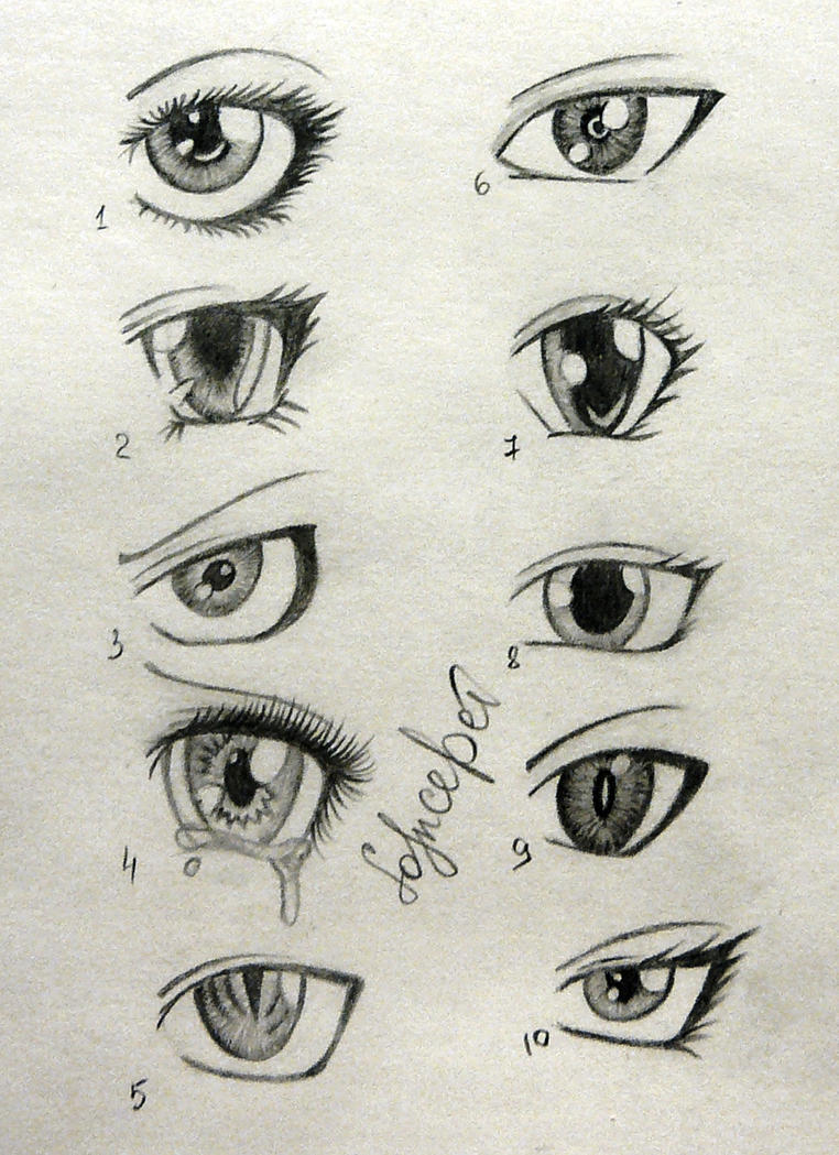anime drawings of eyes: Anime Eyes By SolnceDei On DeviantArt