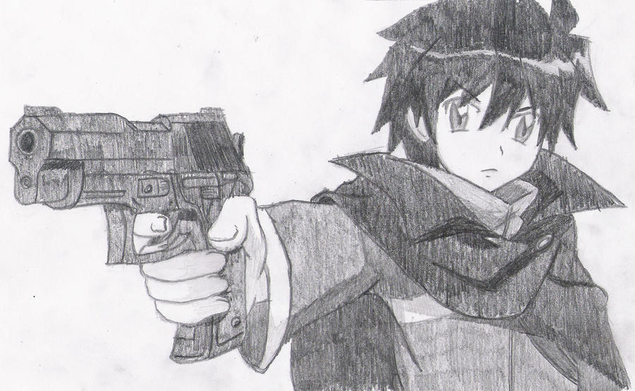Saito With A Pistol by melia161
