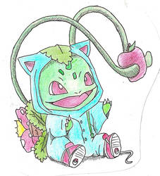 Bulbasaur Wearing A Venusaur Onesie by melia161