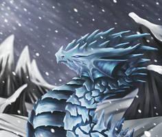 Ice dragon by DragonCelesh