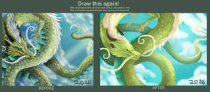 Draw This Again-Oriental Dragon by DragonCelesh