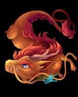Chibi oriental dragon by DragonCelesh