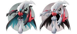 Pokemon fusion: Mega Gallade + Darkrai