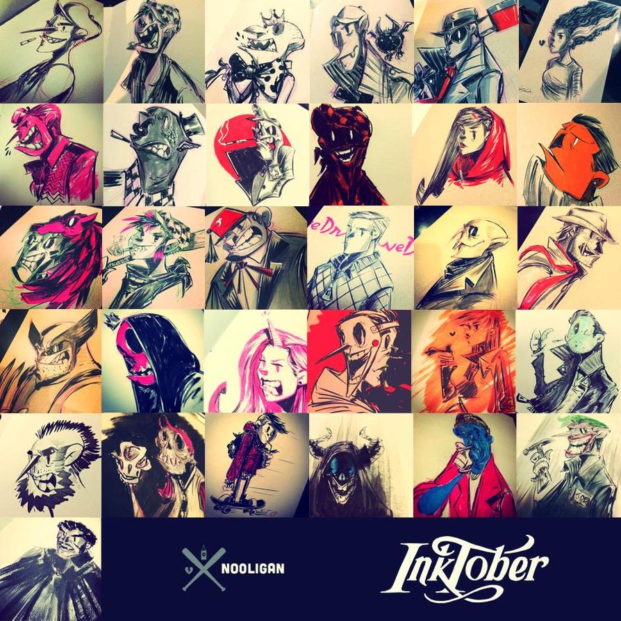 Inktober 2014 by nooligan