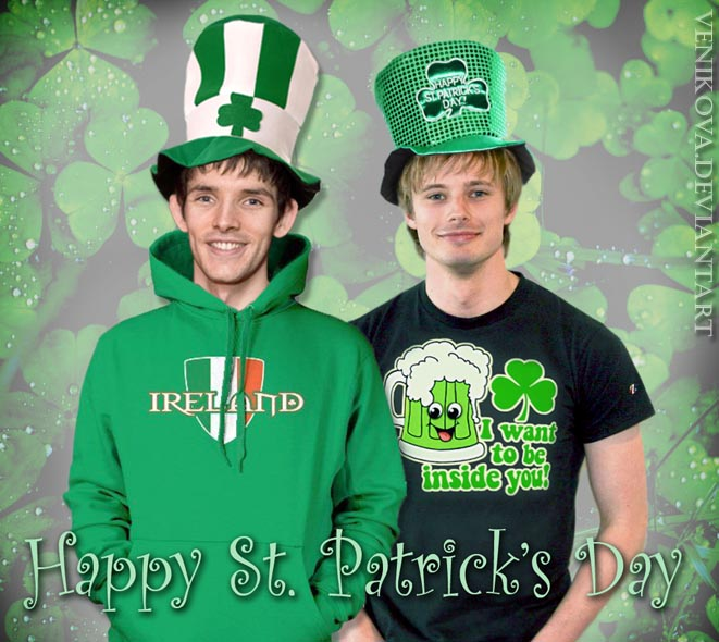Colin Morgan and Bradley James. St. Patrick's Day by ...