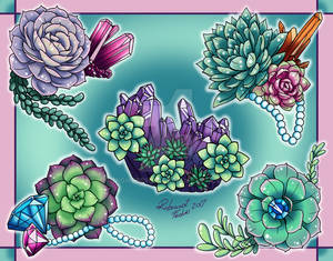 Succulents and Crystals