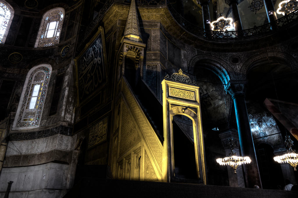 HDR Hagia Sophia Interior by AneiKhaar