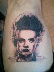 Bride of Frankenstein Tattoo by M1st3RSin1STeR