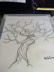 Tree tattoo design by M1st3RSin1STeR