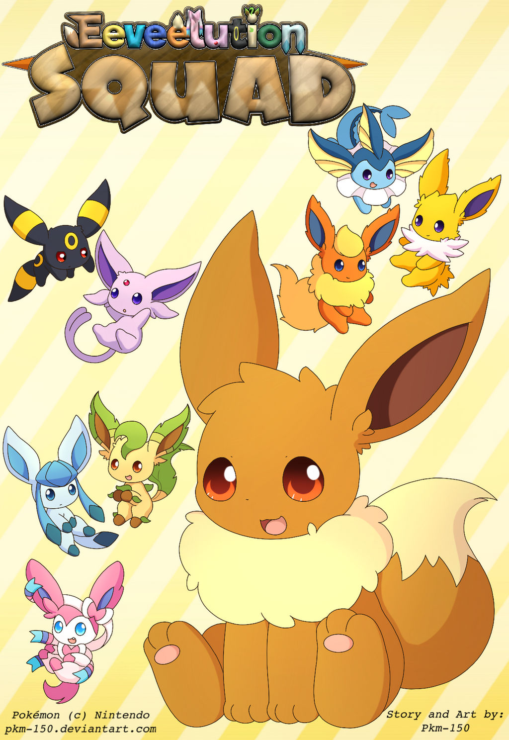Eeveelution Squad -Cover- by PKM-150