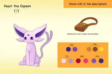Bio: Pearl the Espeon by PKM-150