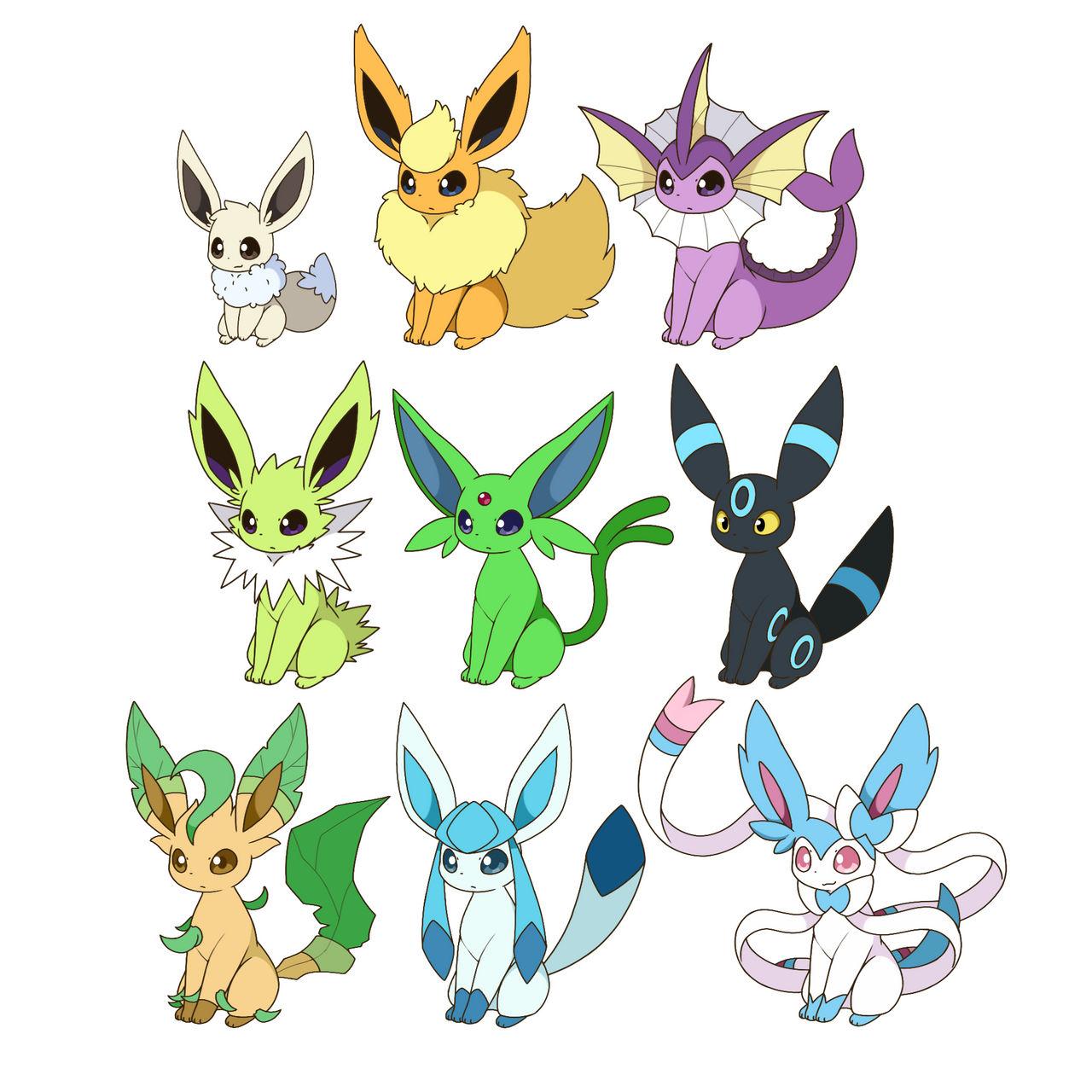 All Shiny Eevee Evolutions