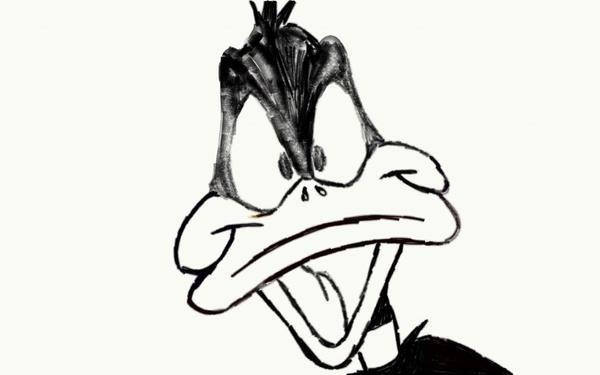 Daffy Duck Pencil Drawing by joshuadrawsthings on DeviantArt