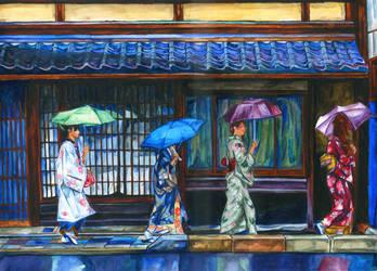 Ladies In A Row by BreakfastTears