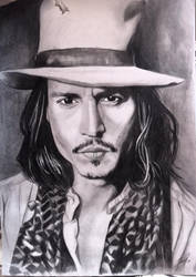 Johnny Depp portrait by Thanisan