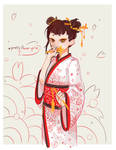 Red Flower Girl by GhostOfPing