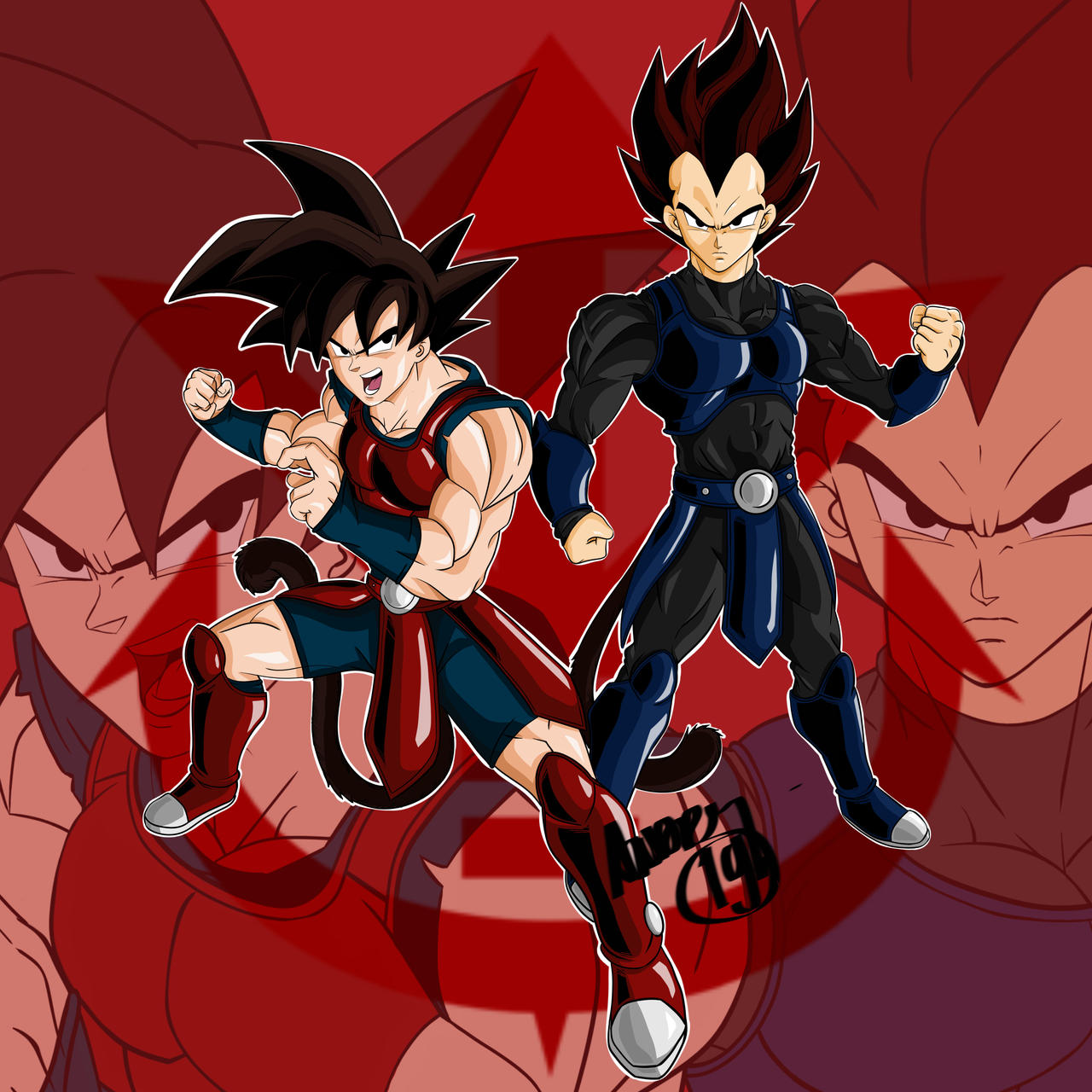 Goku And Vegeta In Old Saiyan Armor By Kaosmerah On Deviantart Read more information about the character vegeta from dragon ball gt? goku and vegeta in old saiyan armor by