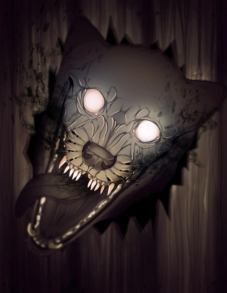 The Monster From The Deep Dark by spookycoin