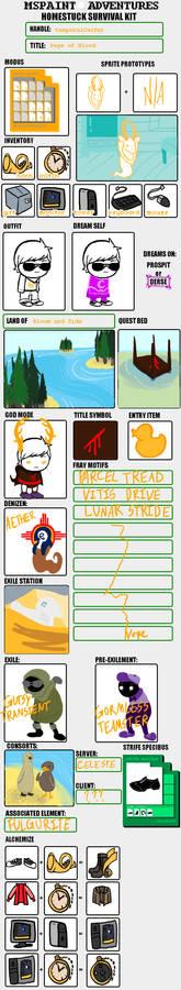 Homestuck Survival Sheet: Gabe