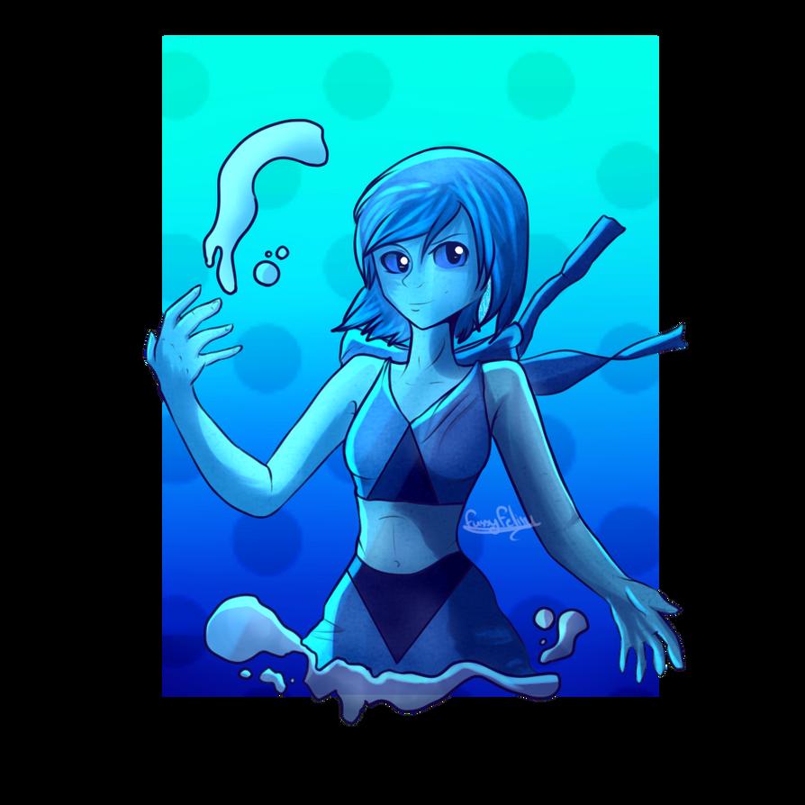 steven universe fan art lapis lazuli by fussyfeline on