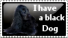 Black Dog Stamp by SavannaH09