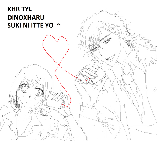 KHR TYL DinoHaru Say I love You by kreuz4eva