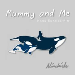 Mummy and Me Hard Enamel Pin