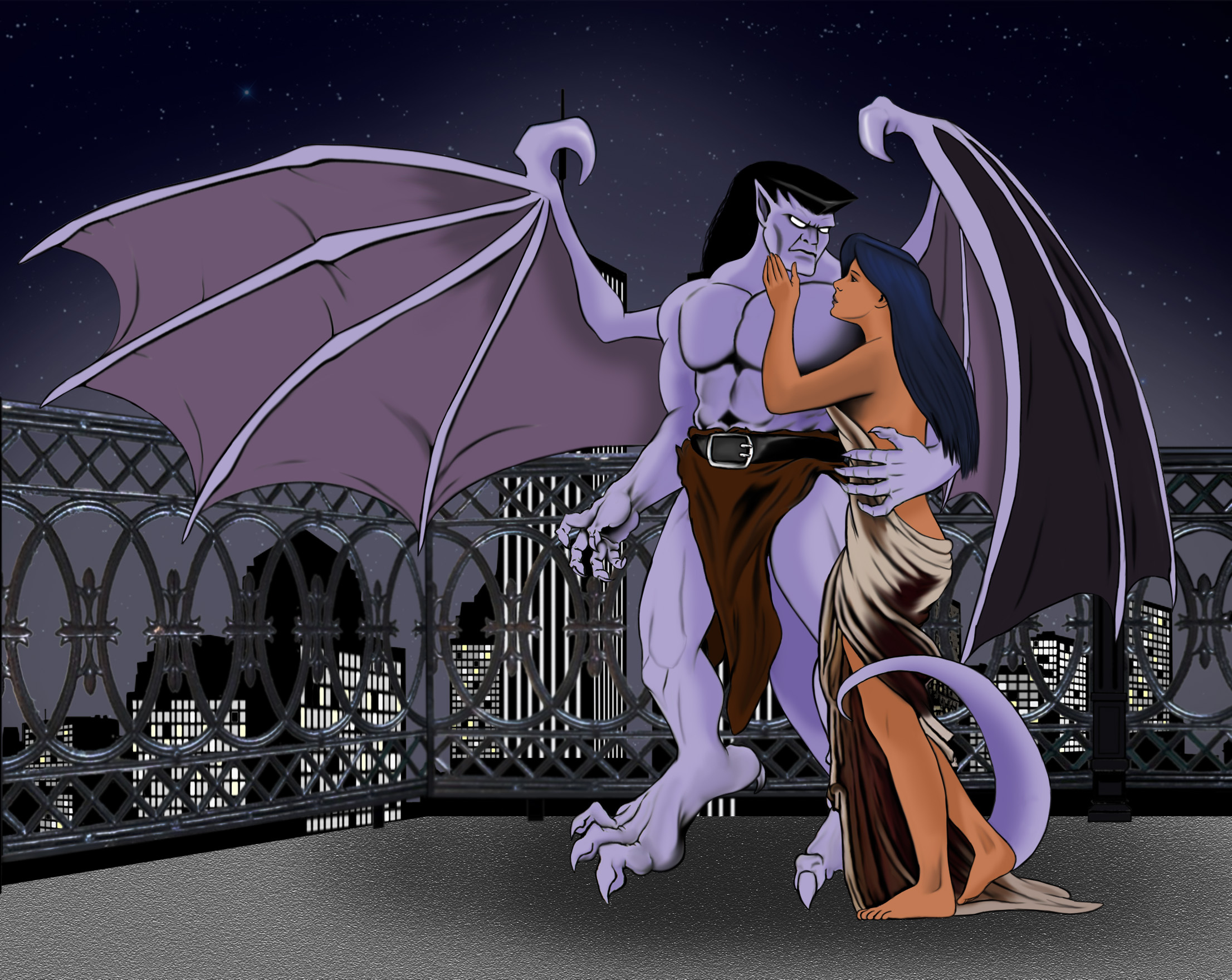Information disney gargoyles goliath and elisa