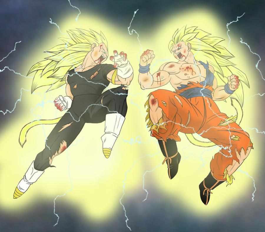 Goku vs Vegeta - Final Conflict - SSJ3 by odinforce23