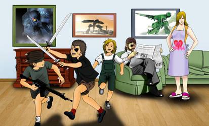 Metal Gear Family by odinforce23