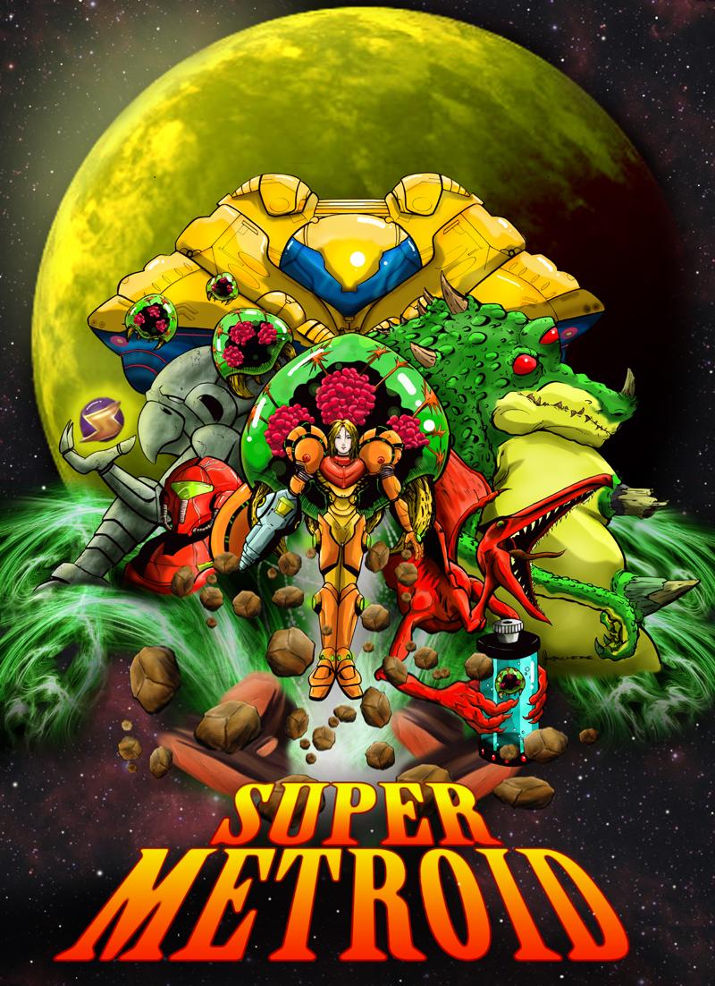 Crie seu proprio Super Metroid!! Super_Metroid_Poster_by_GuruMog